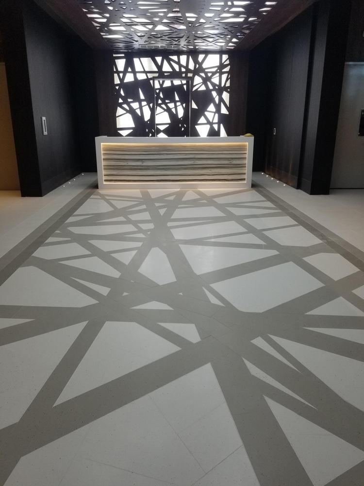 Self-Level performed under tile