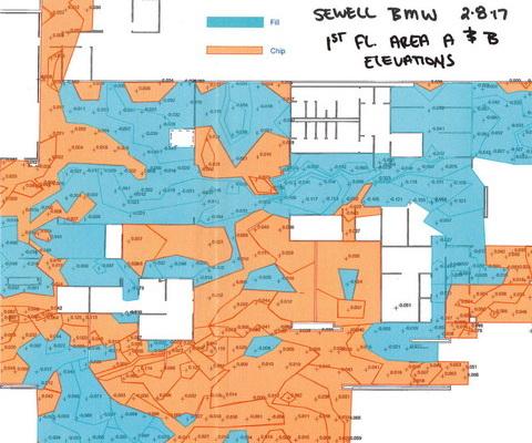 Sewell BMW Cut-Fill map