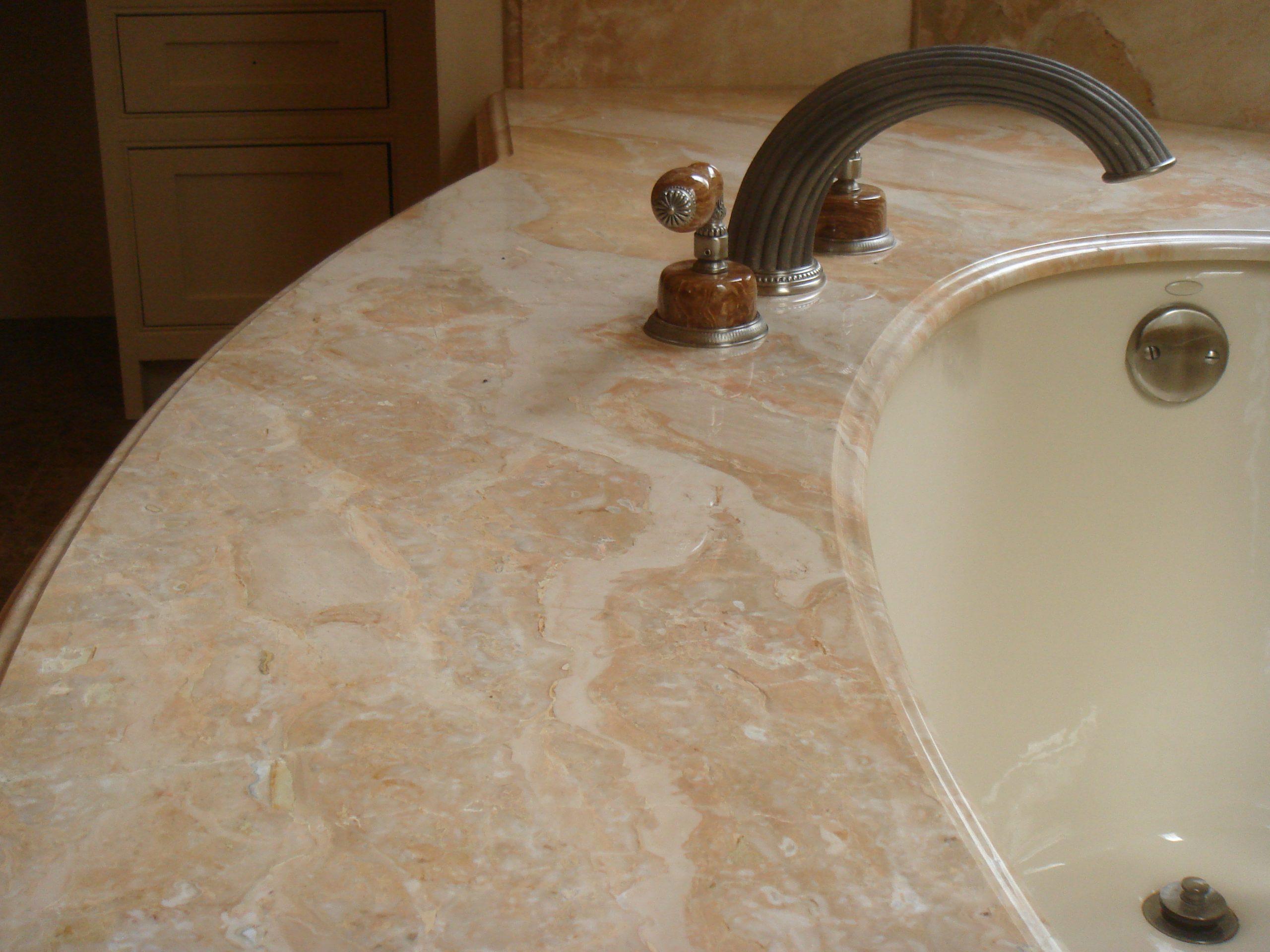 Radius Tub Deck by Kemna Tile